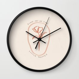 """""""Find Joy In The Little Things"""" Wall Clock"""