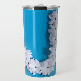 Turquoise Monogrammed J Travel Mug