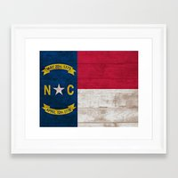 north carolina Framed Art Prints featuring North Carolina by C Liza B