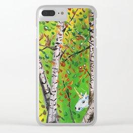 Sasquatch and His Unicorn Clear iPhone Case
