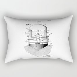 patent art Browne 1945 Diving suit Rectangular Pillow