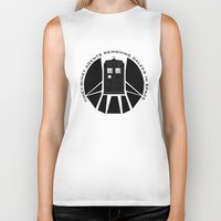 agents of shield Biker Tanks featuring Agents of TARDIS black and white Agents of Shield, Doctor Who mash up by Whimsy and Nonsense
