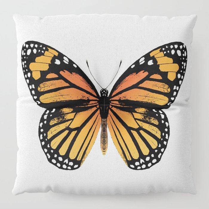 Monarch Butterfly | Vintage Butterfly | Floor Pillow