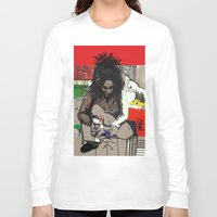 basquiat Long Sleeve T-shirts featuring Basquiat by Helen Syron