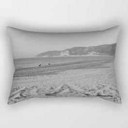 Black and white beach landscape Rectangular Pillow