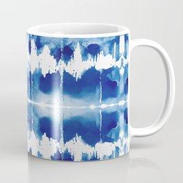 Shibori Tie Dye Indigo Blue Coffee Mug