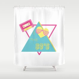 I Love 80s Eighties Fancy Dress Theme Party Gift Shower Curtain