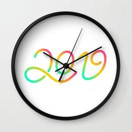 Happy New Year 2019 T-shirt LOV T-shirt Wall Clock