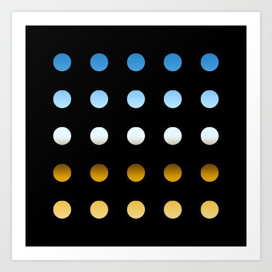 twentyfive dots o4 Art Print