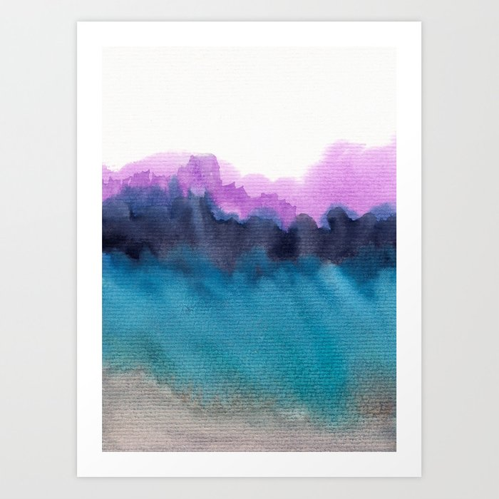 Watercolor abstract landscape 13 Art Print