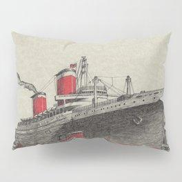 Steam Ship, New York Harbor Pillow Sham
