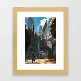 Tablet Falls Framed Art Print