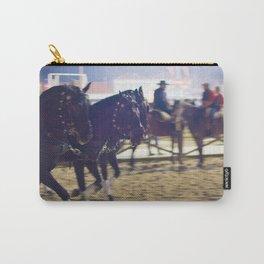 Feira da Golega 2015 3 horses 35 mm Carry-All Pouch