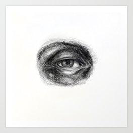 Eye study sketch 1 Art Print