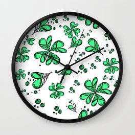 Lucky on my side Wall Clock