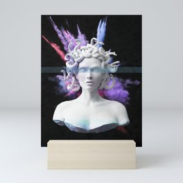 Medusa color blast  Mini Art Print