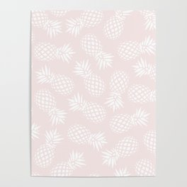 Pineapple pattern on pink 022 Poster