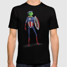Captain Kermit Mens Fitted Tee LARGE Black