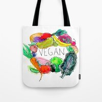 vegan Tote Bags featuring Vegan  by BriannaCamp