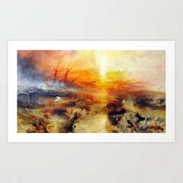 """J. M. W. Turner """"Slavers Throwing overboard the Dead and Dying, Typhon coming on - The slave ship"""" Art Print"""