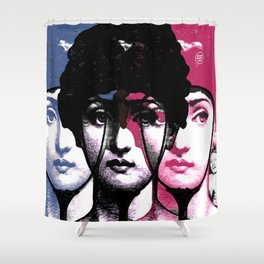 Woman, applause, laughter and vanity ... Shower Curtain