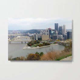 Downtown Pittsburgh in the Fall 23 Metal Print