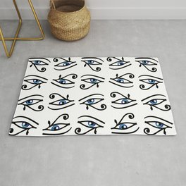 Egyptian Eye of Horus or wadjet is a symbol of royal power and protection Rug