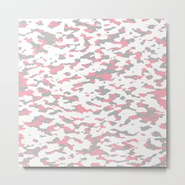 Camouflage: Pink IV Metal Print