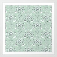 damask Art Prints featuring Damask... by Catherine Ann Lewis