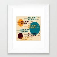 birdy Framed Art Prints featuring birdy by BruxaMagica_susycosta