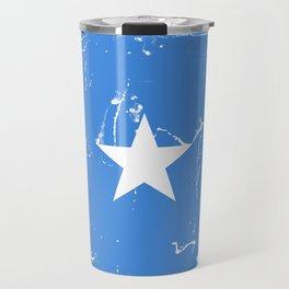 Somalia flag with grunge effect Travel Mug