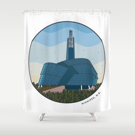 Explore Winnipeg Shower Curtain