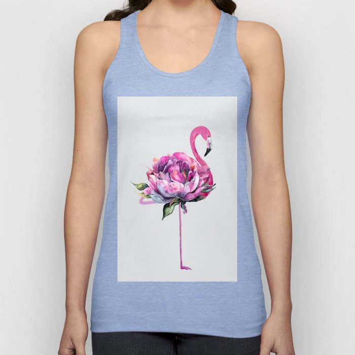 Flower Flamingo Unisex Tank Top