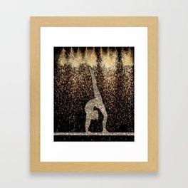 Sparkle Gymnast Framed Art Print