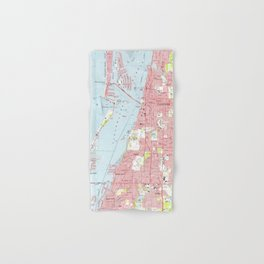 Vintage Map of Clearwater Florida (1974) Hand & Bath Towel