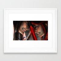 kill la kill Framed Art Prints featuring Kill La Kill by trixdraws