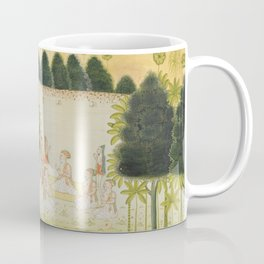 Nanda and the Elders in Council with the Cowherds - 17th Century Hindu Art Coffee Mug