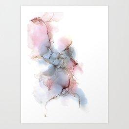 Blue bubbles I Art Print