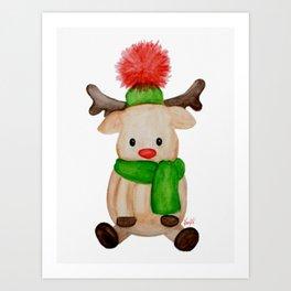 Winter Reindeer Art Print