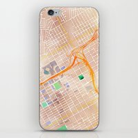 alabama iPhone & iPod Skins featuring Birmingham, Alabama by Emily Day