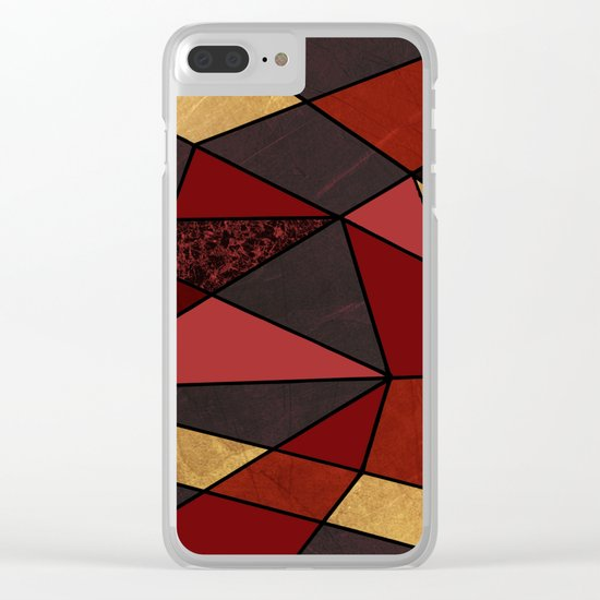 Abstract #467 Clear iPhone Case