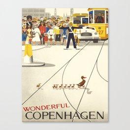 Vintage poster - Copenhagen Canvas Print