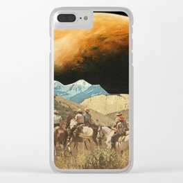 Riders on the slopes Clear iPhone Case