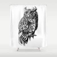 bioworkz Shower Curtains featuring Owl 2.0 by BIOWORKZ