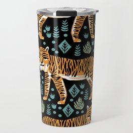 Tiger forest tropical tigers screen print art by andrea lauren Travel Mug