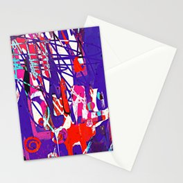 Child's Play - Abstract Painting ll Stationery Cards