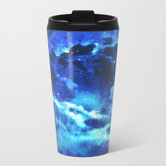Blue on Moon Metal Travel Mug