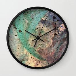 Sea Side Splatter Wall Clock