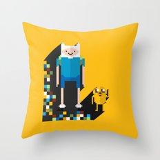 finn the pixel Throw Pillow