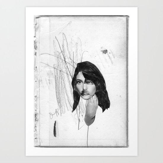 the four winds. b/w Art Print